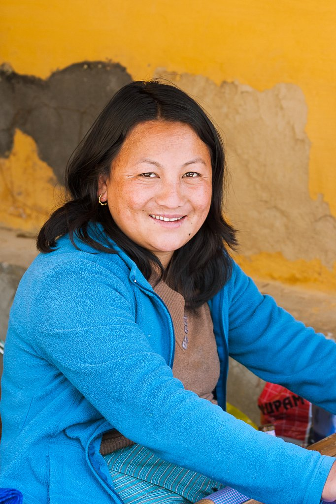 Lachende Frau ∙ Smiling Woman, Bhutan