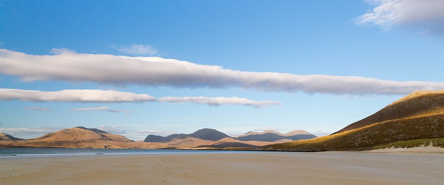 September - Luskentyre Beach, Äußere Hebriden